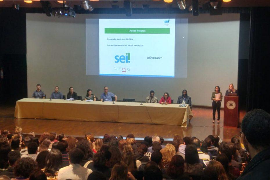 Seminário sobre implantação do Sistema Eletrônico de Informações (SEI) na UFMG
